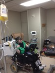 Sophie getting platelets Oct 2013