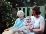 Grandma Sophie with Sophie and Jody  Summer, 1994